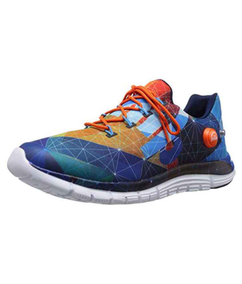 Reebok Men s Zpump Fusion AG Running Shoe Cali Blue/Faux Indigo/Red Rush/Swag Orange/White/Black 8 D(M) US