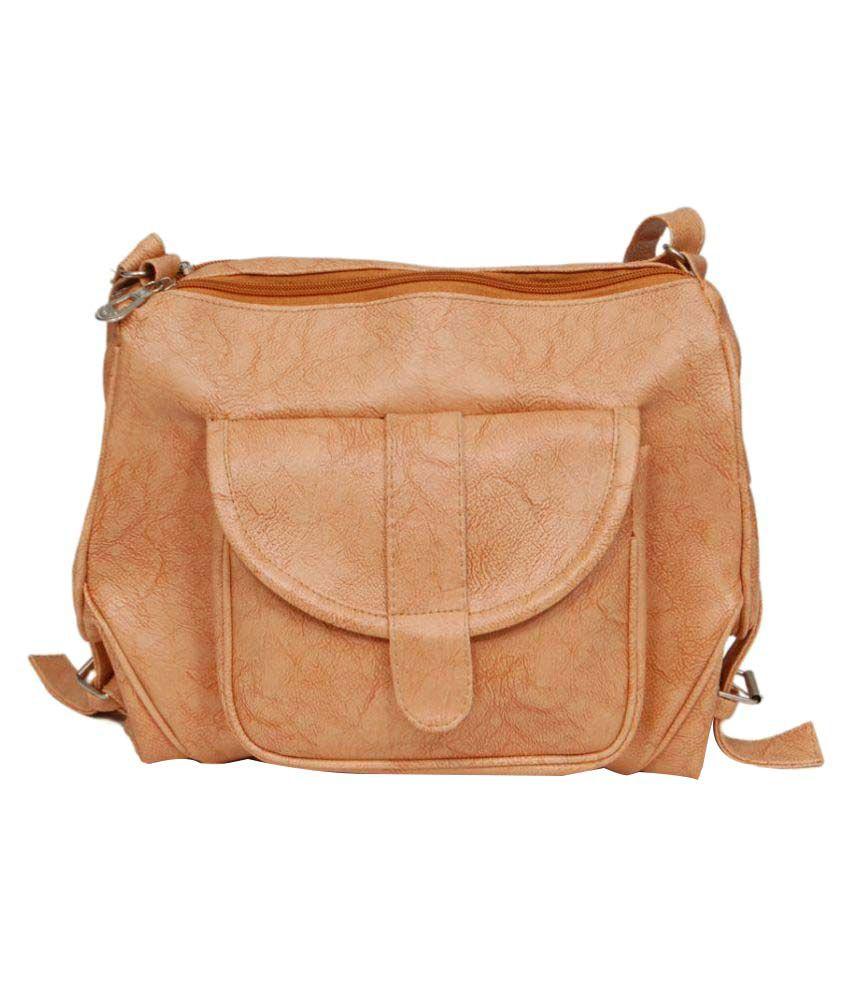 Borse Beige P.U. Sling Bag
