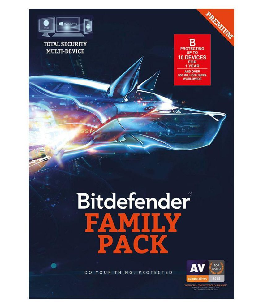 Bitdefender Total Security Family Pack 2017 10 Device 1 Year 32 64 Bit