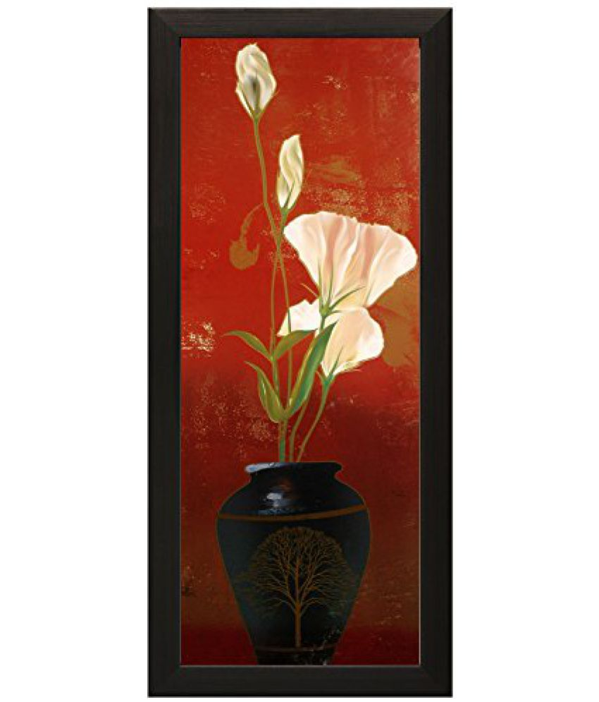 SAF Special Effect Textured Floral with UV Print Painting (SANFO168, 15 cm x 3 cm x 38 cm)