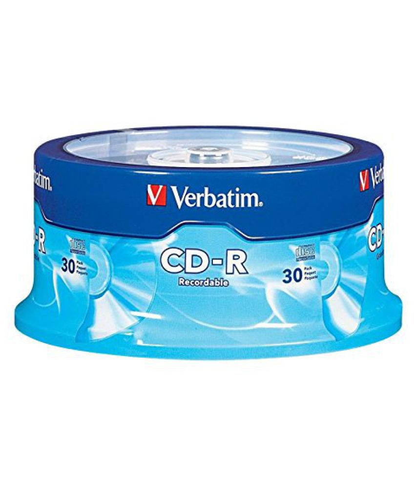 Verbatim 700 MB 52x 80 Minute Branded Recordable Disc CD-R, 30-Disc Spindle 95152