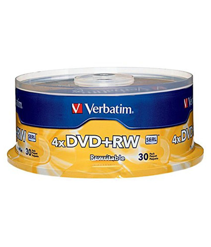 Verbatim - DVD-RW, 4X, 4.7GB, 30/PK, Spindle, Sold as 1 Package, VER 94834