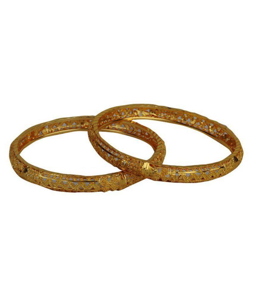Ankur Imitation Jewellery Golden Brass Pair of Bangle