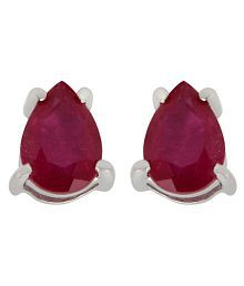 Allure Precious Ruby Studded Red Studs For Women