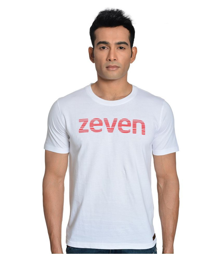 Zeven White Cotton T Shirt
