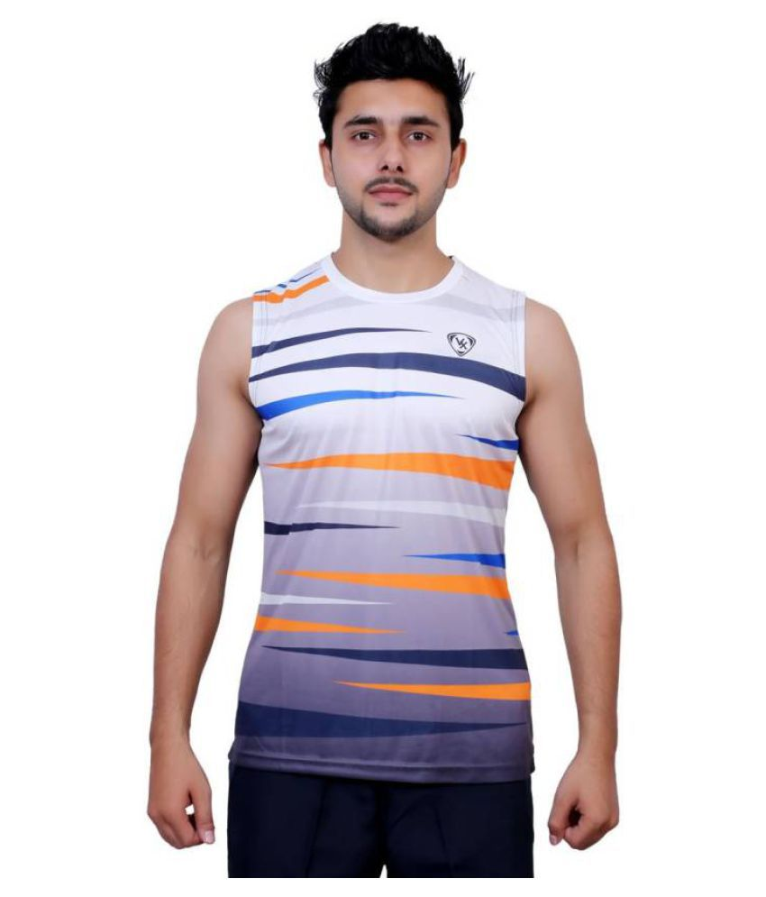 Vector X Solid Men's Sleeveless Round Neck Multicolor T-Shirt