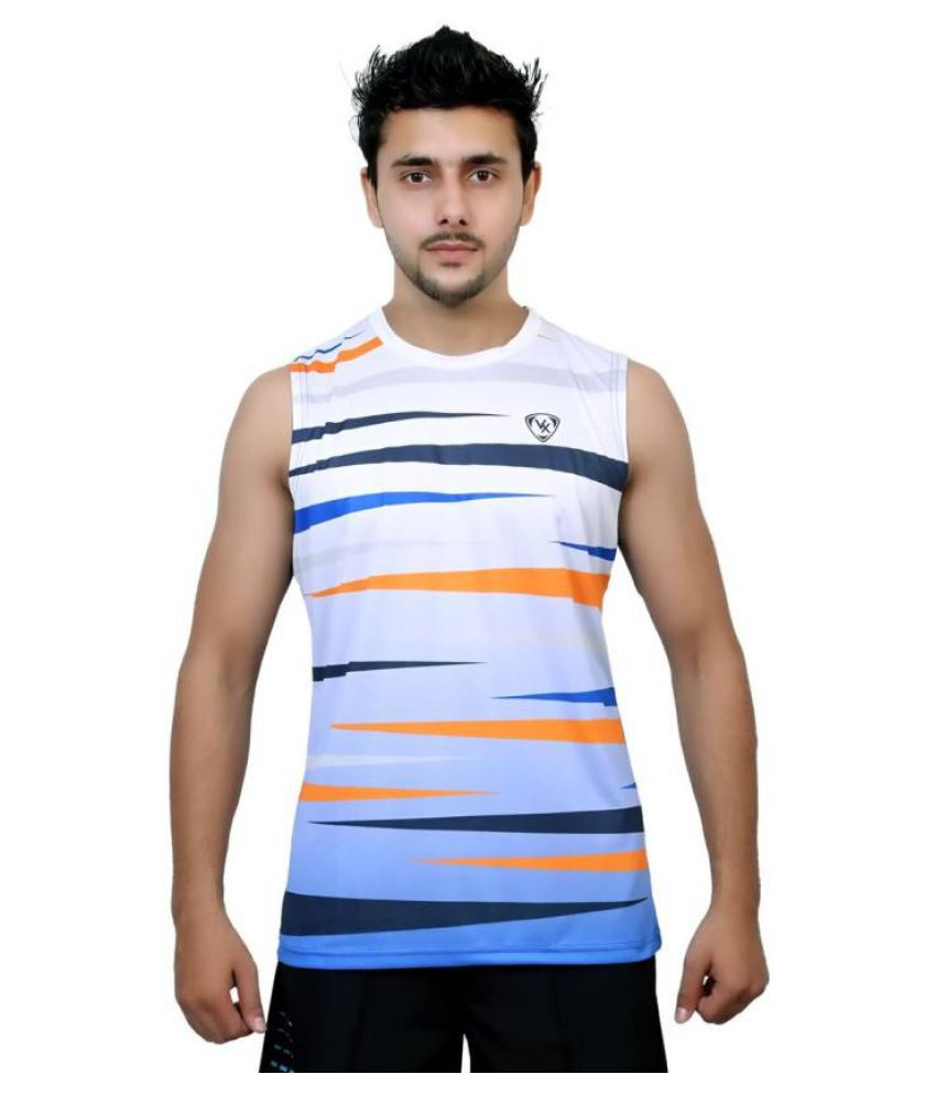 Vector X Printed Men's Sleeveless Round Neck Multicolor T-Shirt