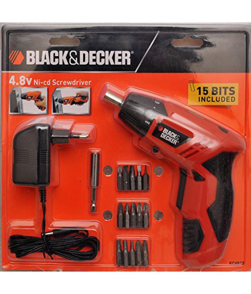 Black and Decker KC4815 15 - Piece Screwdriver Set (Orange ...