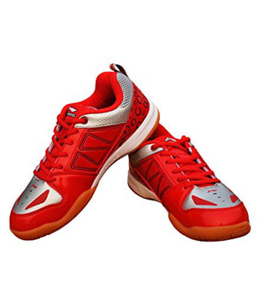 Li-Ning AYTL081-3 Rio Badminton Shoes (Red/Silver)