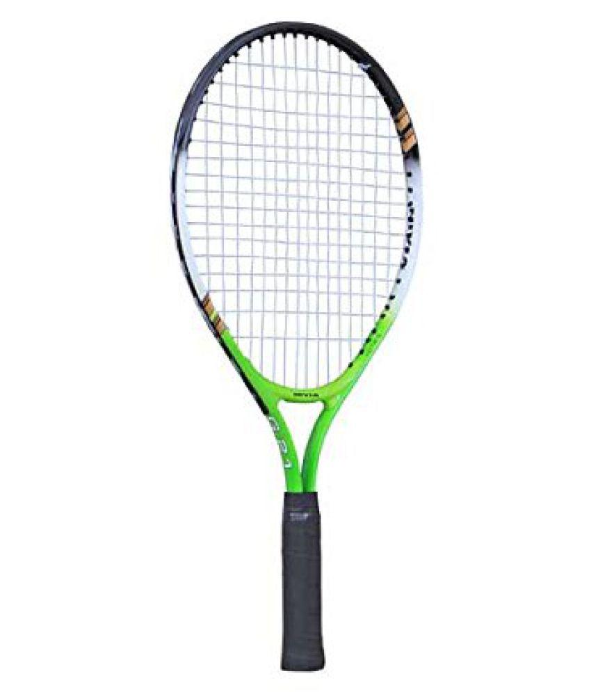 NIVIA G-21 Aluminium Tennis Racquet, 21-Inch (Green/Black)