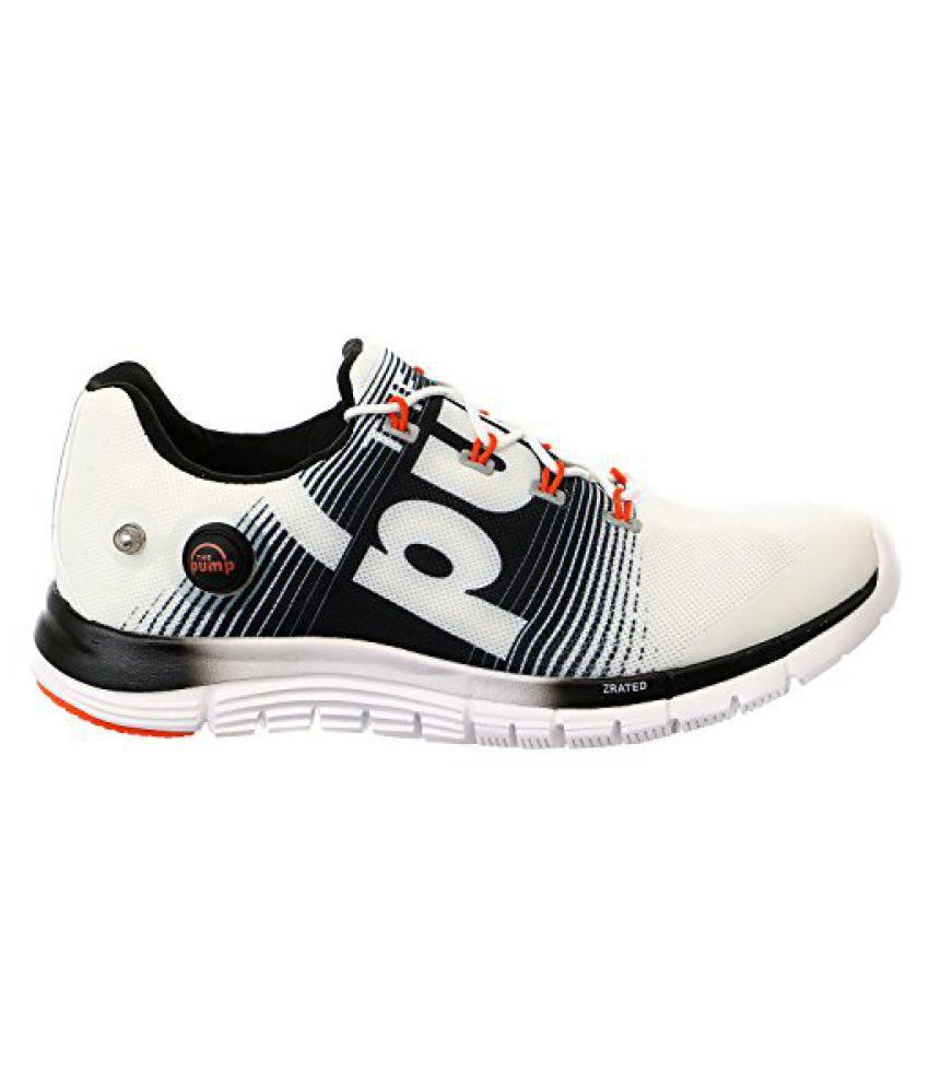 Reebok Men s Z-Pump Fusion Running Shoe White 10 D(M) US