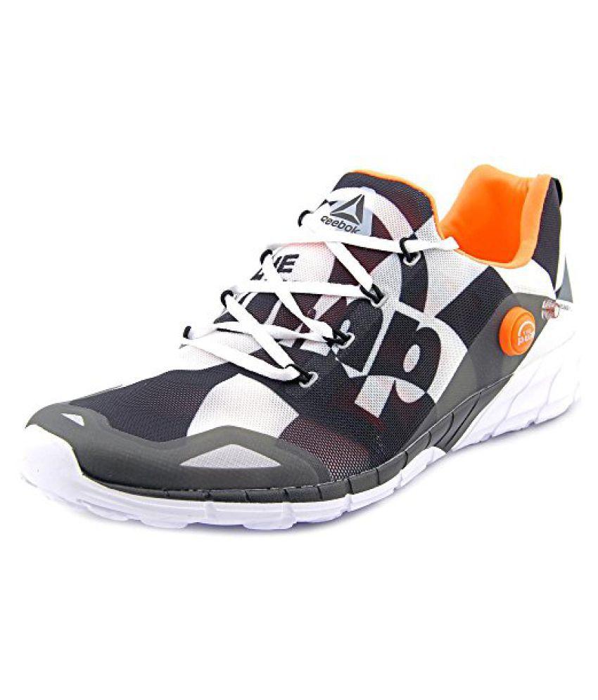 Reebok Men s Zpump Fusion 2.0 Running Shoe White/black/grey/peach 10.5 D(M) US