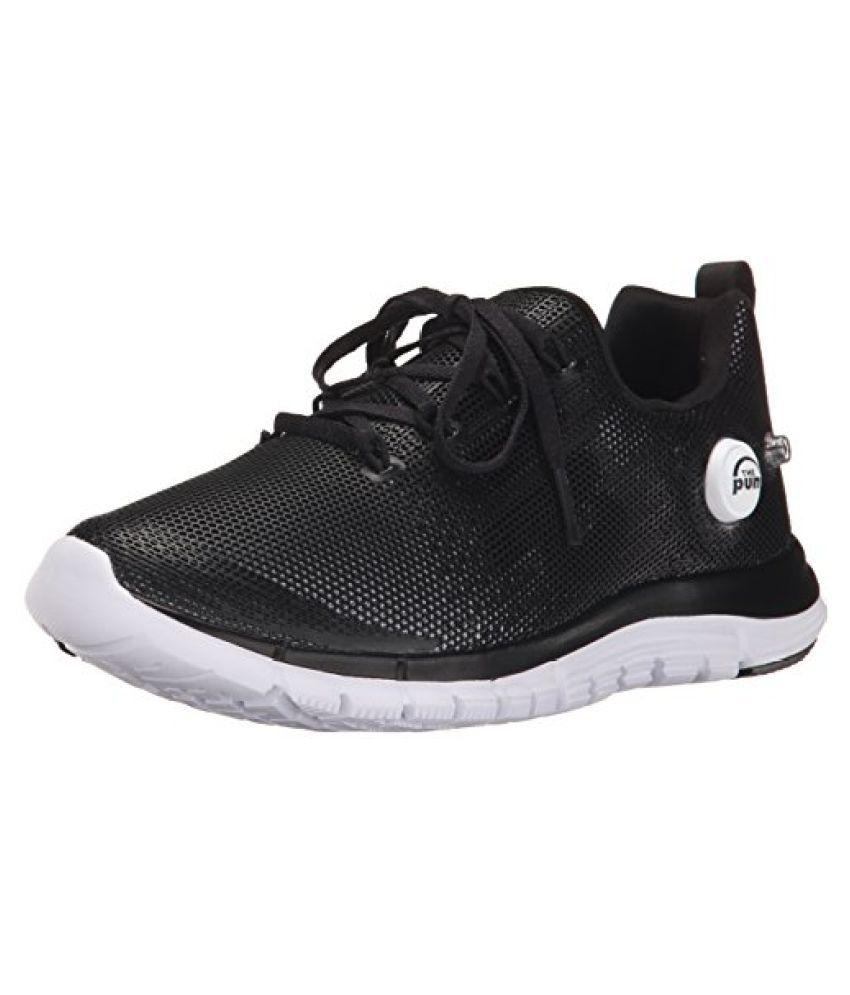 Reebok Zpump Fusion PU Running Shoe Little Kid Big Kid Black/White 7 M US Big Kid