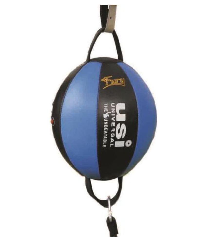 USI Fury Split Club Double End Ball, One Size (Blue/Red)