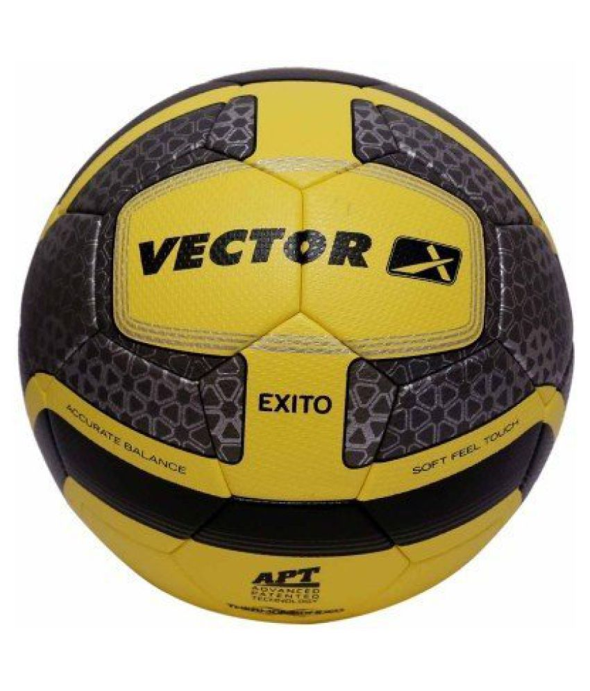 Vector X Exito Thermobonded Football - Size: 5, Diameter: 68.5 cm (Yellow,Black)