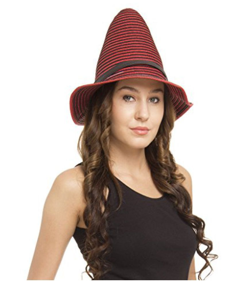 FabSeasons Red Fancy Hat for Women