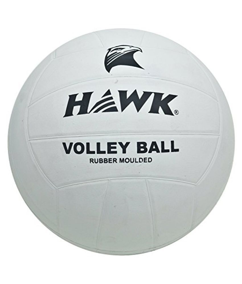 HAWK Attack Unisex Rubber Volleyball 4 White