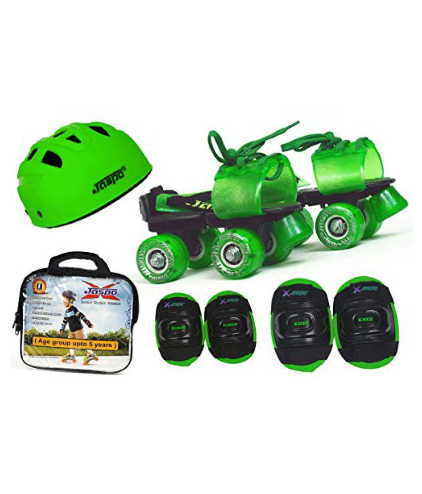 Jaspo Green Masters Intact junior Skates Combo (skates+helmet+knee+elbow+bag)suitable for age upto 5 years