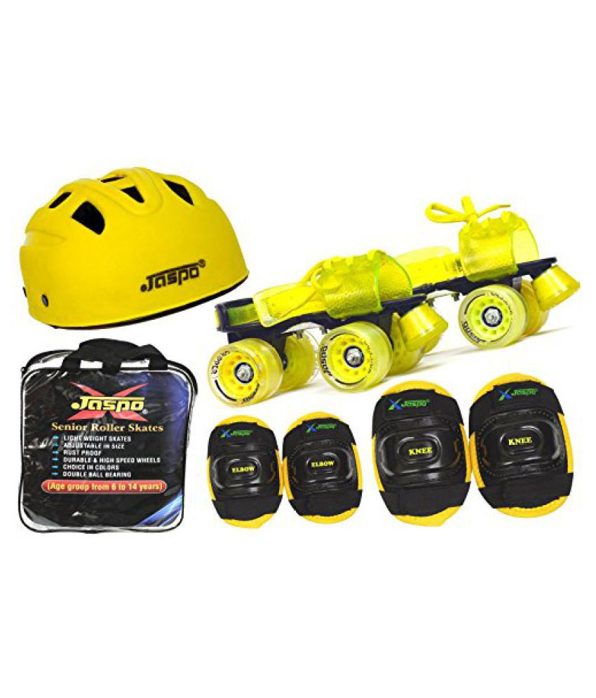 Jaspo Storm Intact Superior Senior Skates Combo (skates+helmet+knee+elbow+bag)suitable for age upto 6 to 14 years
