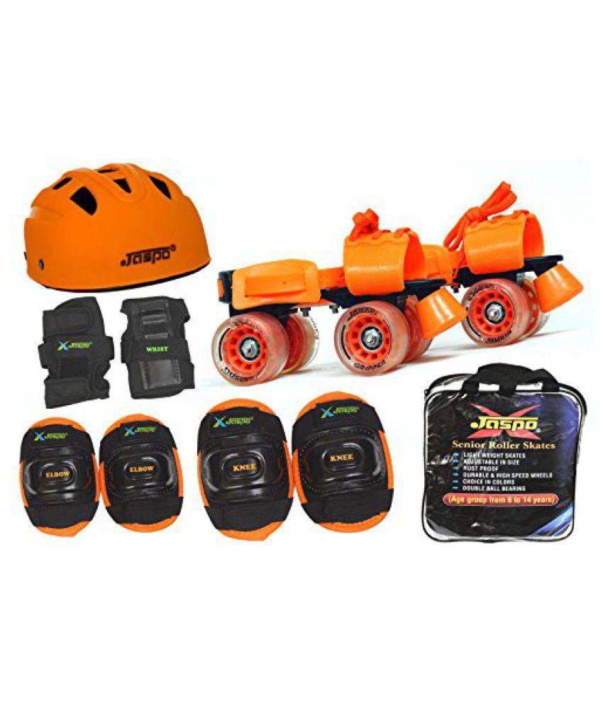Jaspo Thunder Pro Superior Senior Skates Combo (skates+helmet+knee+elbow+wrist+bag)suitable for age upto 6 to 14years