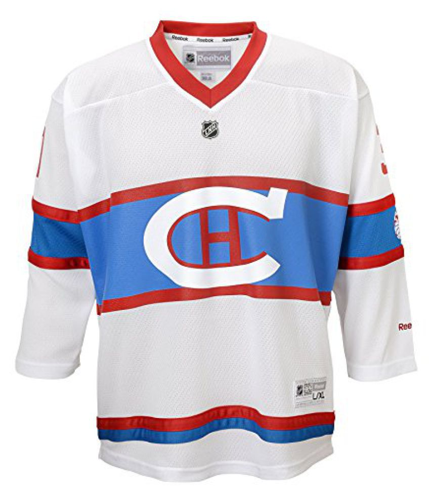 NHL Montreal Canadiens Carey Price #31 Boys 4-7 Winter Classic Replica Jersey, 5/6, Blue