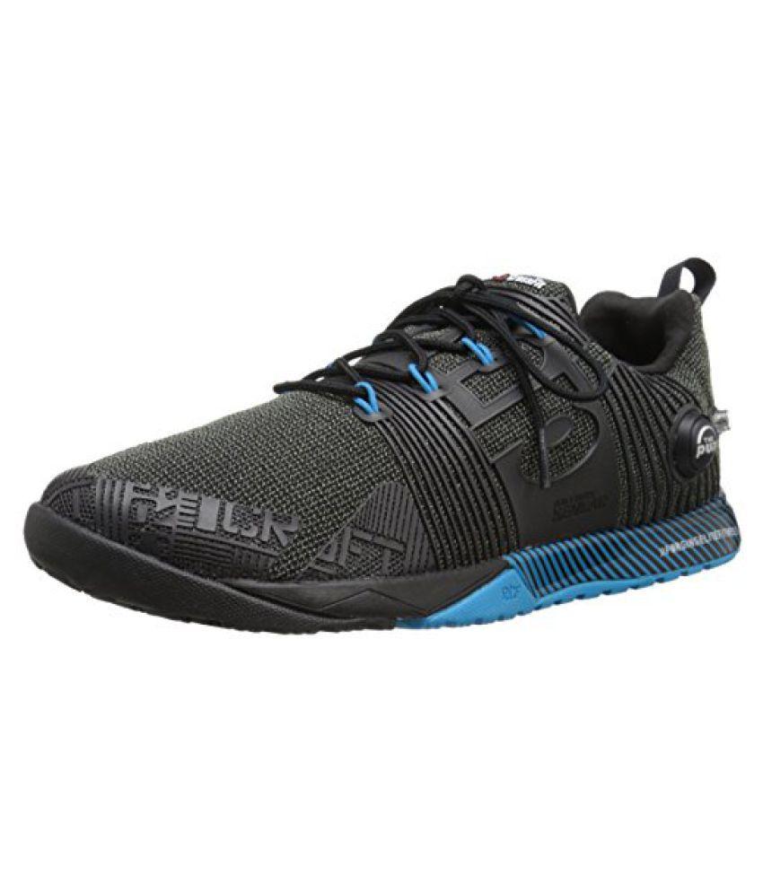 Reebok Men s R Crossfit Nano Pump FS Cross-Trainer Shoe Black/Far Out Blue 8 D(M) US
