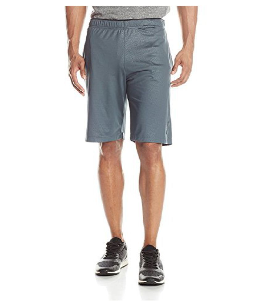 Reebok Men's Work Out Ready Emboss Poly Shorts