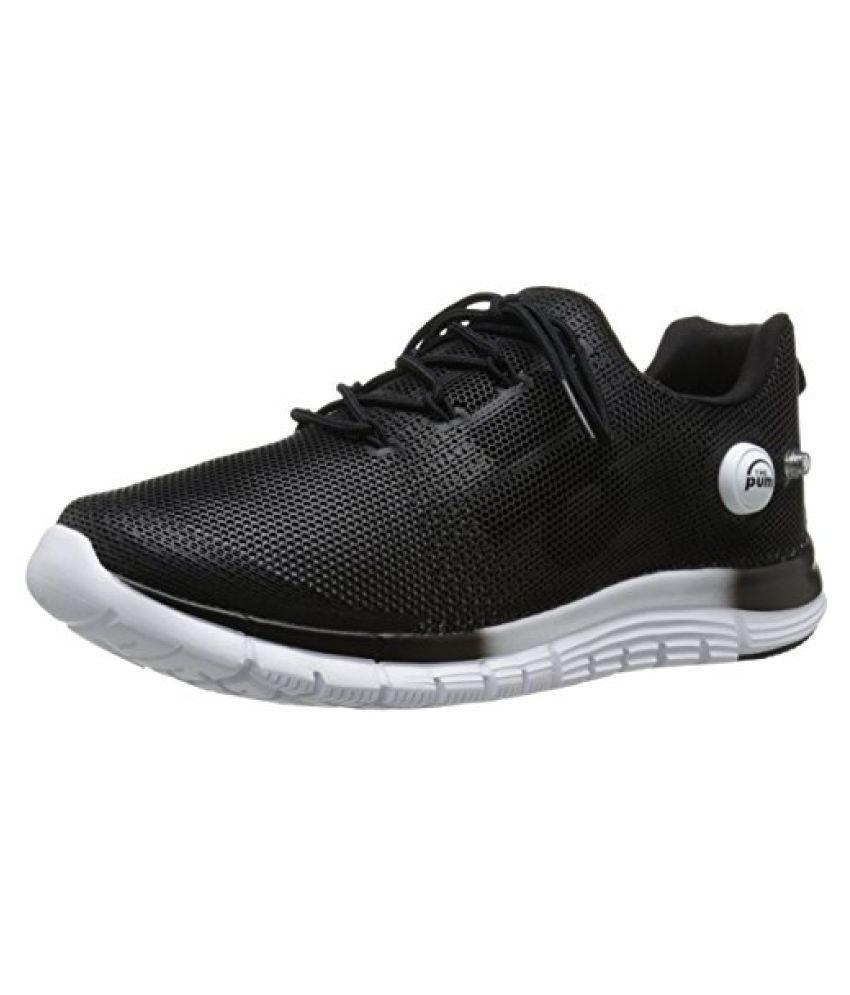 Reebok Men's ZPump Fusion Polyurethane Running Shoe Black / White 8.5 D(M) US