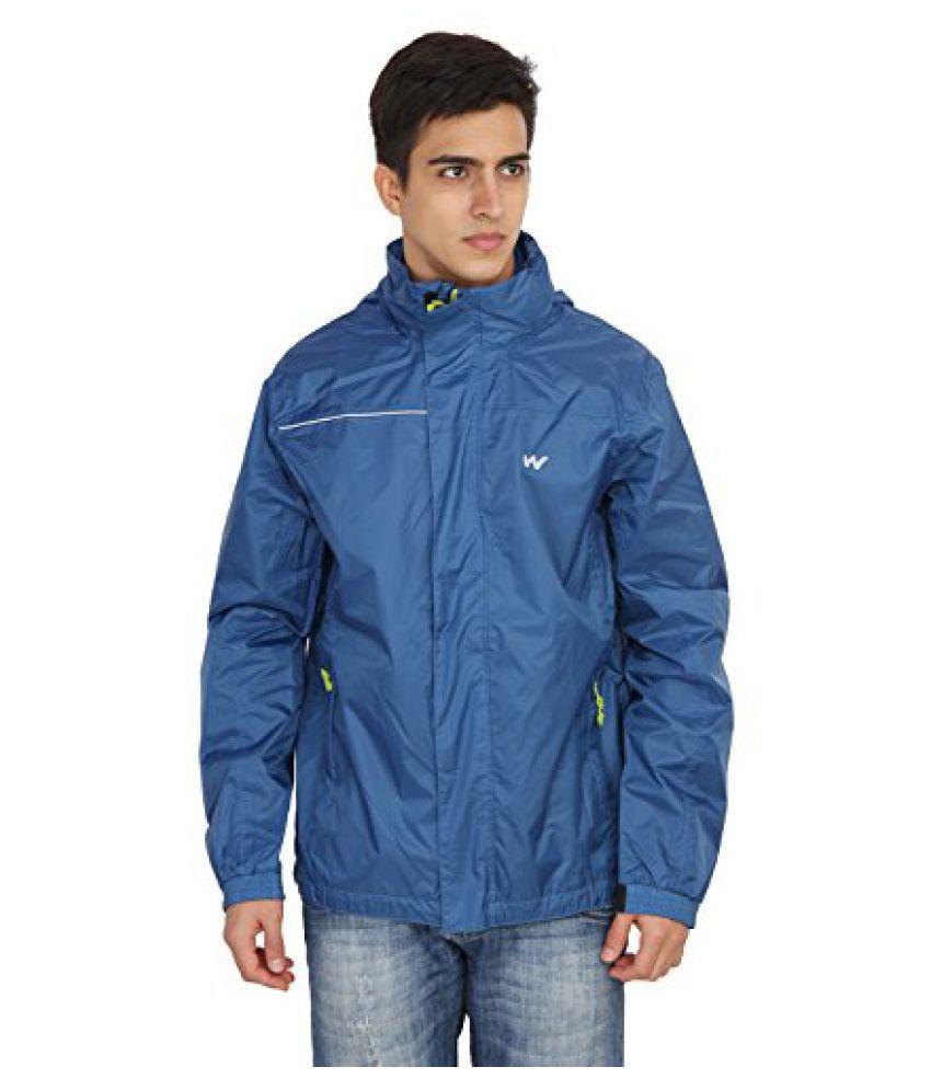 Wildcraft Mens Blue Rain Jacket