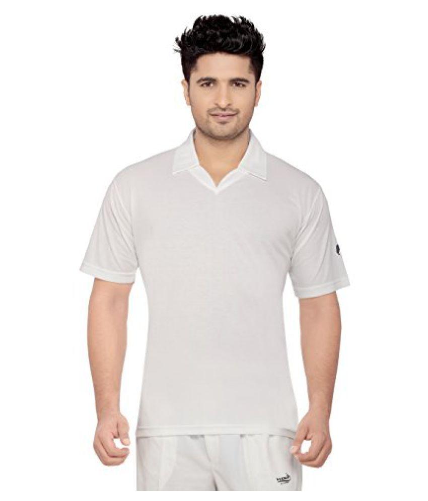 Wolf Cricket Whites - Senior - Half Sleeves T-Shirt