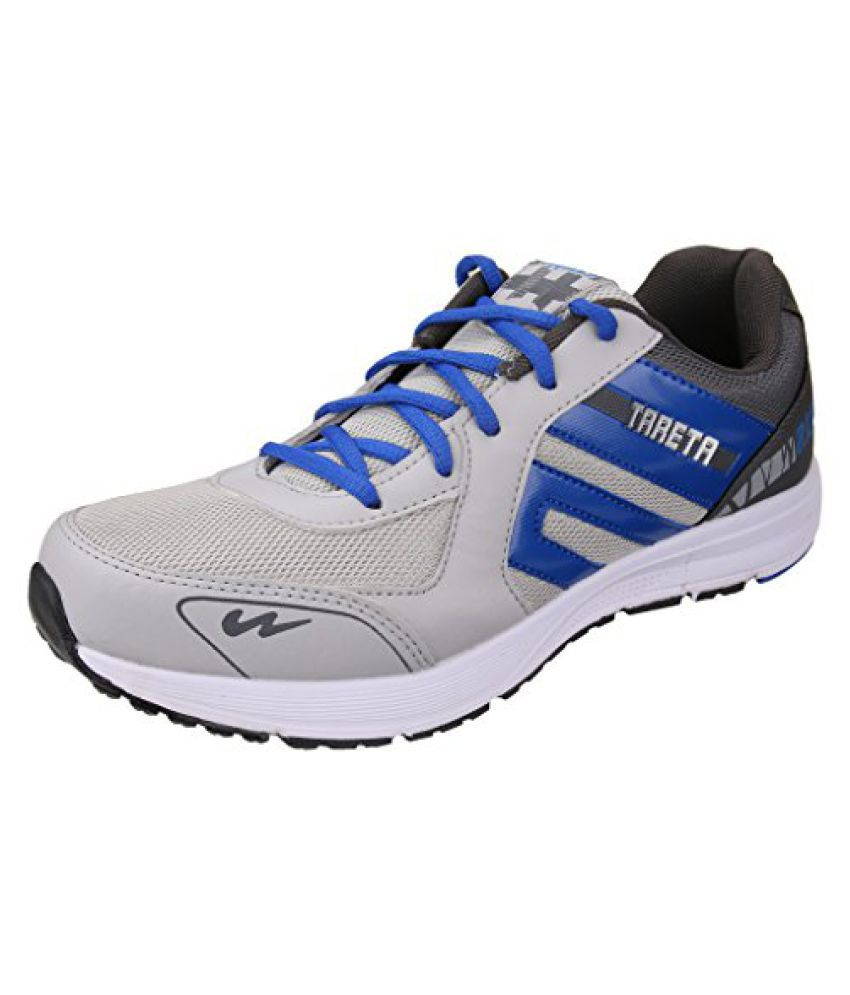 Action Campus Mens Dark Grey Royal Blue Synthetic and Nylon Mesh Sports Shoes 7UK