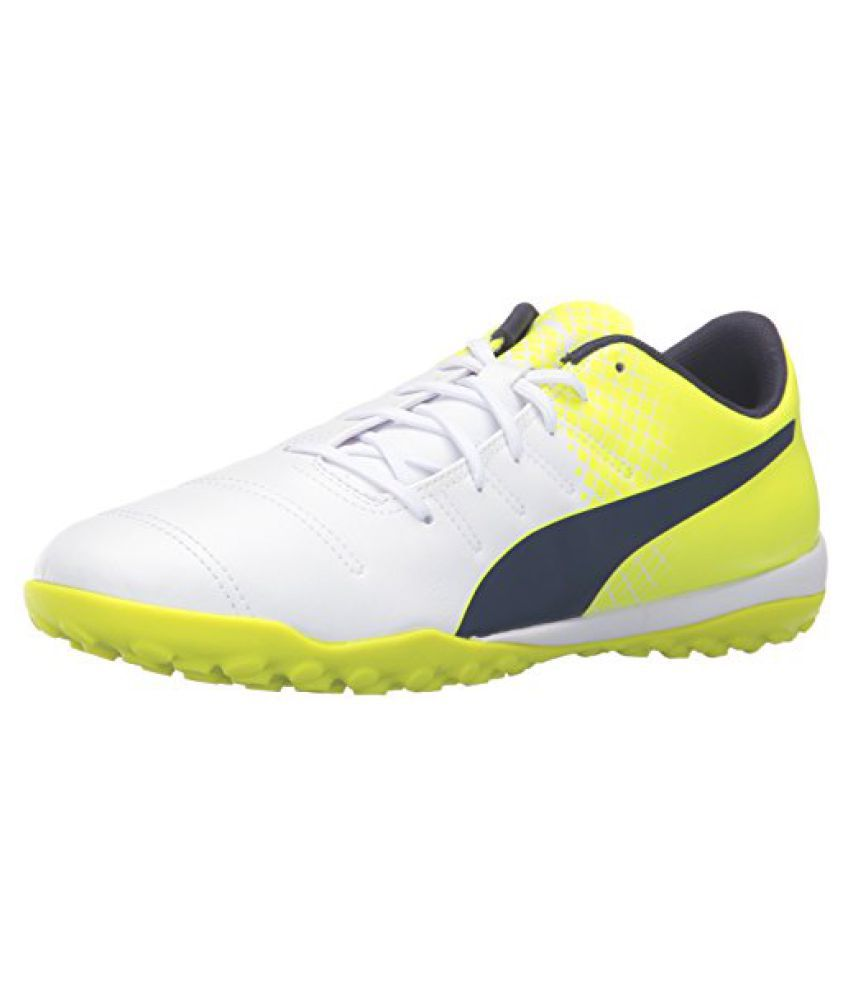 PUMA Men's Evopower 4.3 Tricks TT Soccer Shoe, Puma White/Peacoat/S, 12.5 M US