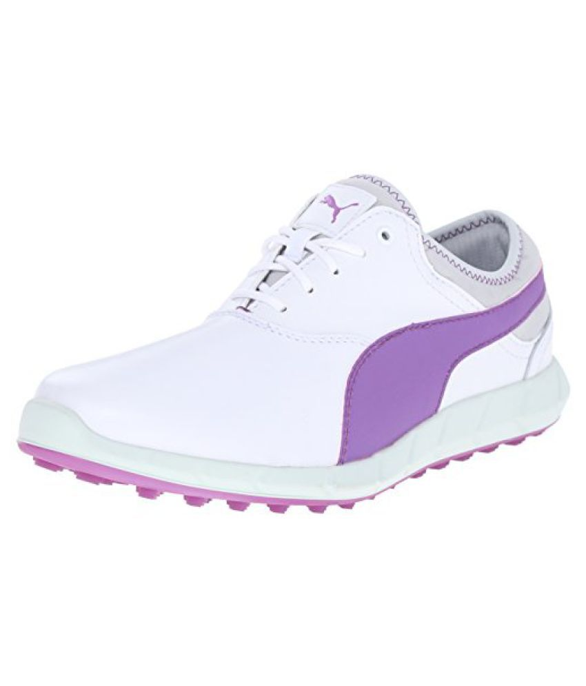 PUMA Women s Ignite Golf WMNS Golf Shoe White/Purple Cactus 9 B(M) US