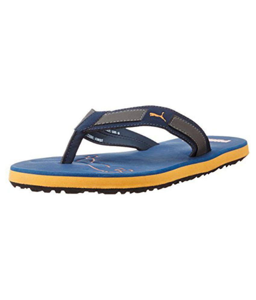 Puma 36194401 Rubber Flip Flops, Men's Size 6 (Blue)