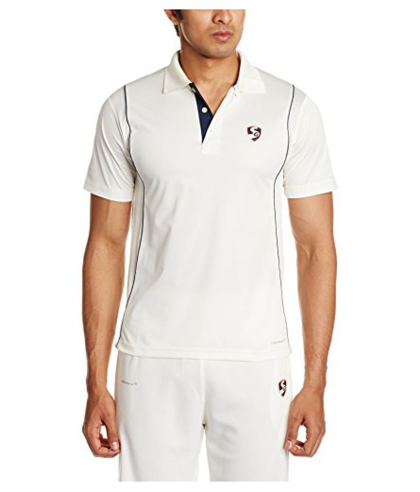 SG Icon Half Sleeve Cricket Shirt (White)