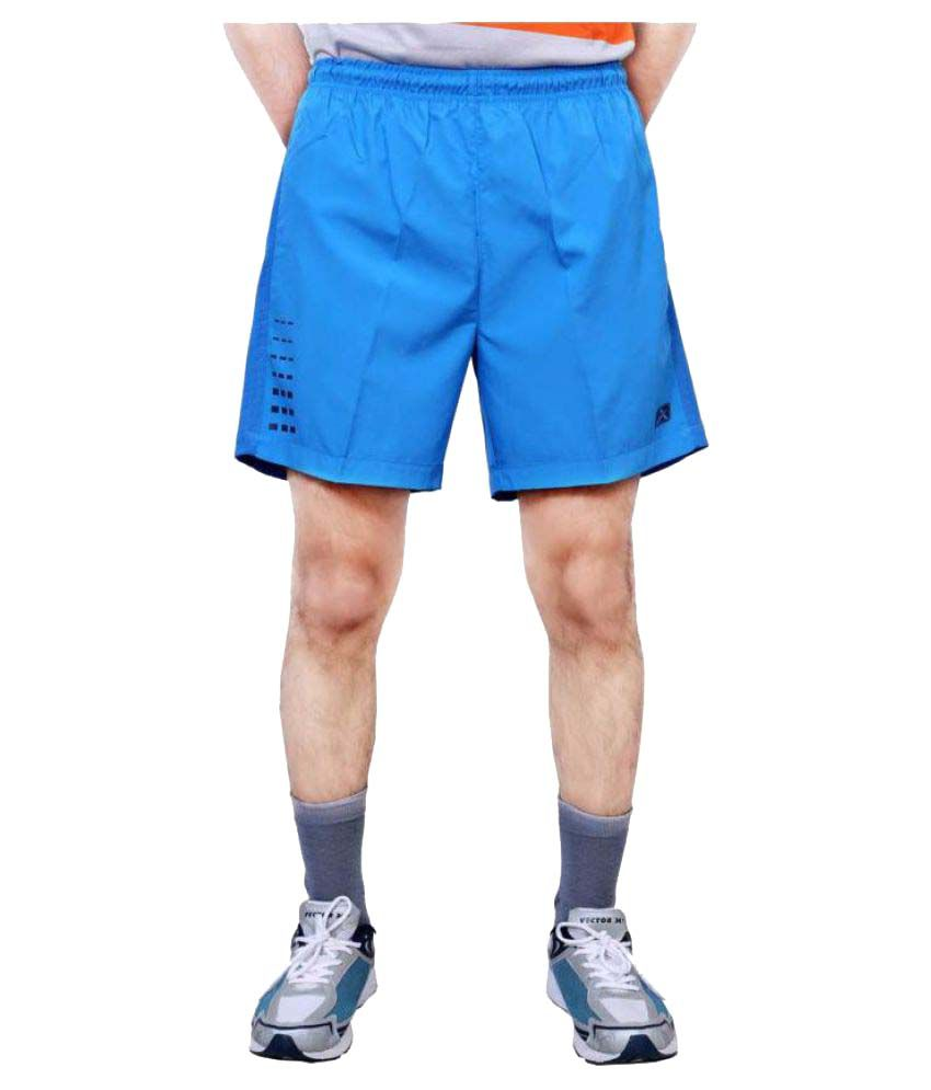 Vector X Solid Men's Light Blue Sports Shorts