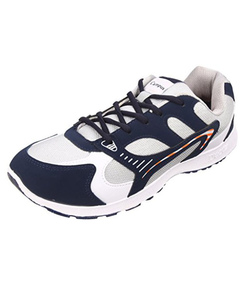 Action Campus Men's COBRA Series Blue Light Gray Synthetic and Nylon Mesh Sports Shoes