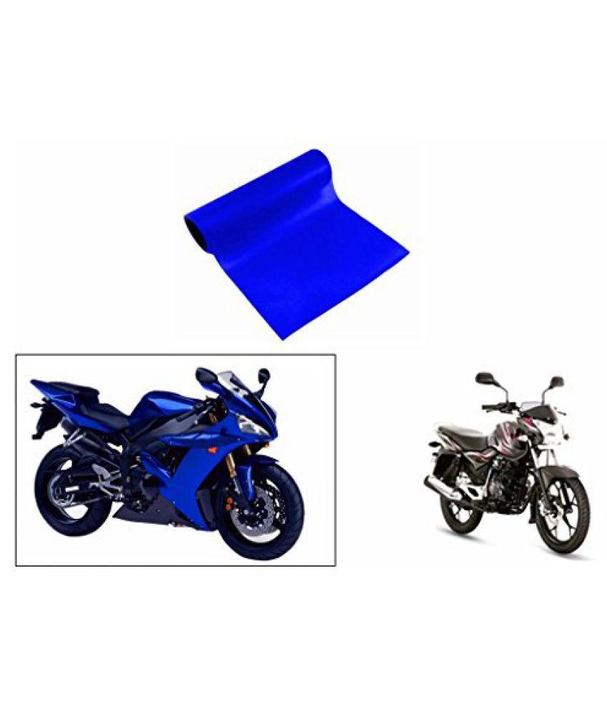 Speedwav 3mtr Bike Wrap Sheet Gloss Blue-Bajaj New Discover 125 M DTS-i