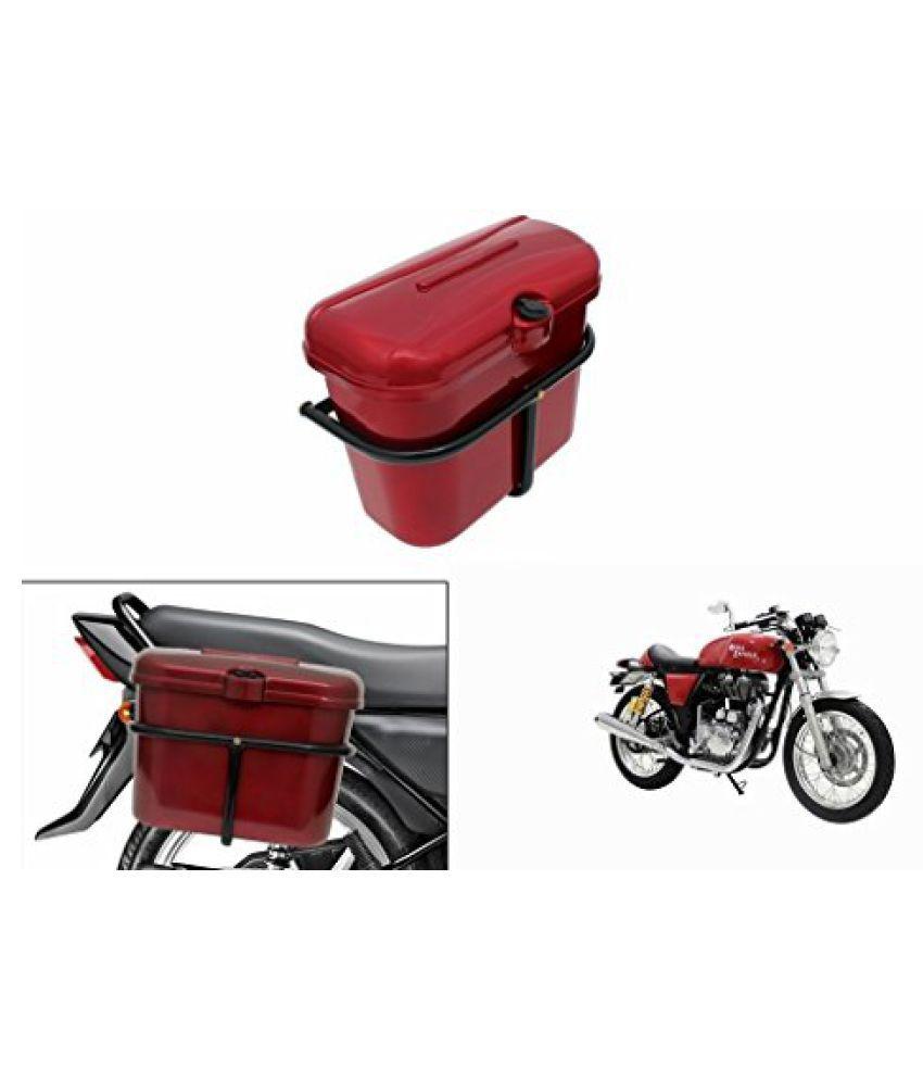 Speedwav Bike SLB-1 Side Luggage Box Red-R Enfield Continental GT