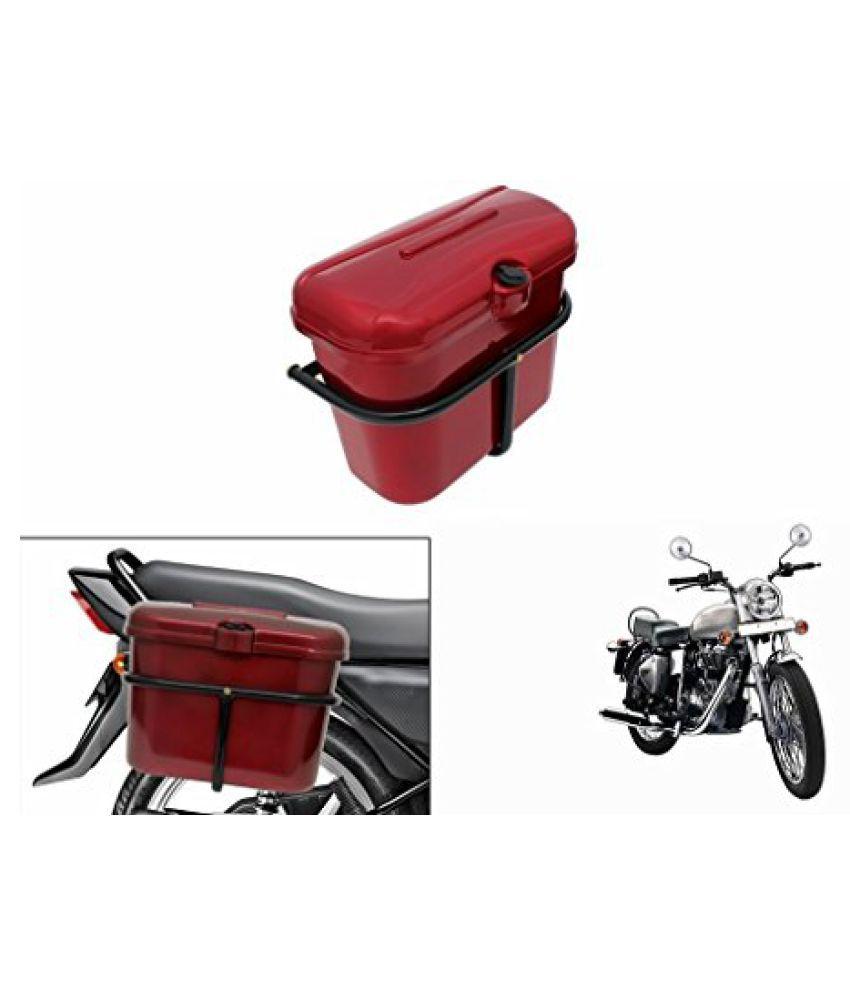 Speedwav Bike SLB-1 Side Luggage Box Red-R Enfield Electra Twin Spark