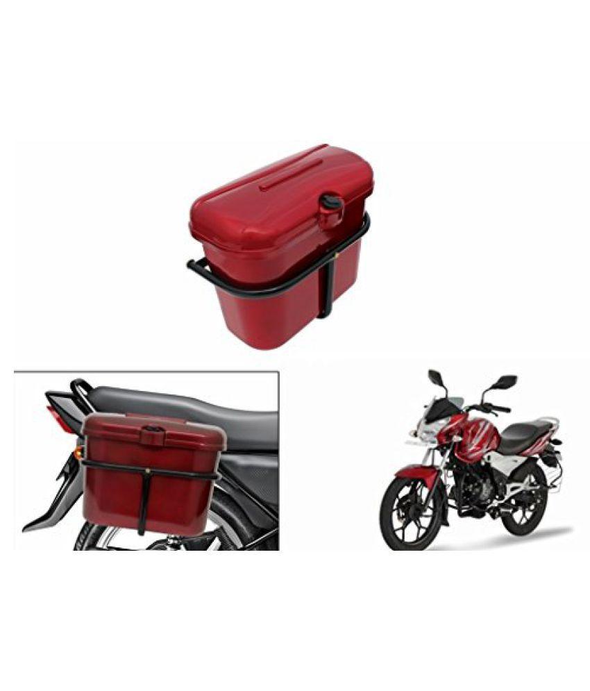 Speedwav Bike SLB-1 Side Luggage Box Red-Bajaj Discover 150S DTS-i