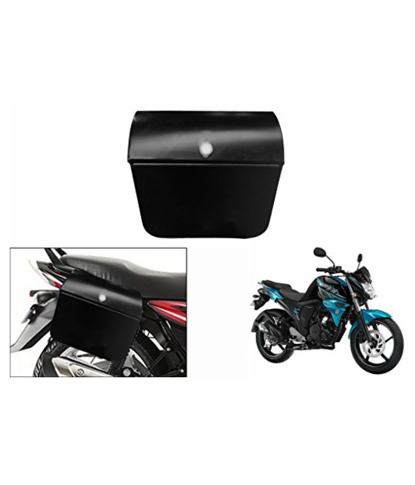 Speedwav Bike Side Steel Luggage Box Black-Yamaha FZ-S
