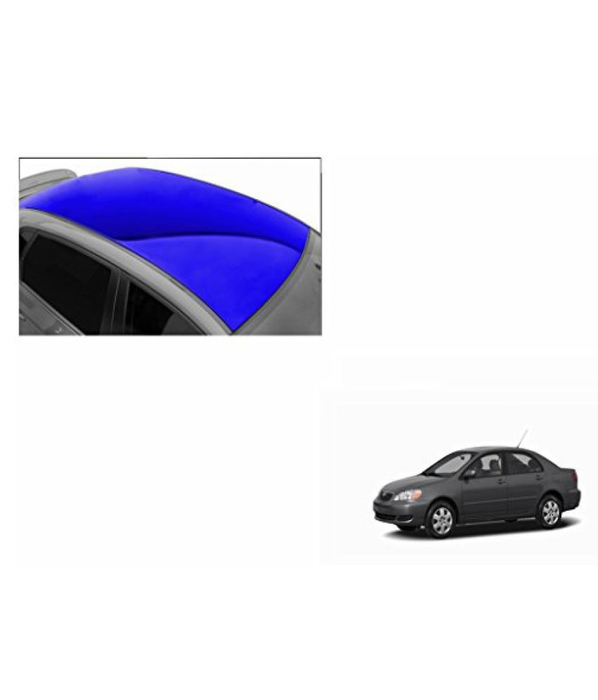 Speedwav Car Roof Glossy Wrap Sheet Blue-Toyota Corolla Type 1 (2003-2008)