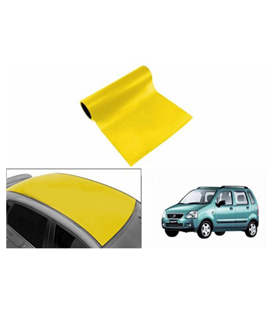 Speedwav Car Roof Glossy Wrap Sheet Neon Yellow-Maruti WagonR Type 1 (1998-2003)