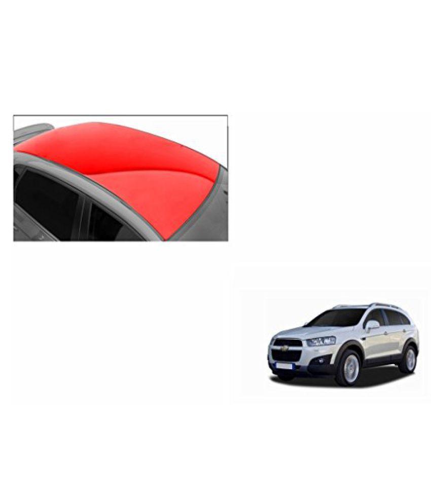 Speedwav Car Roof Glossy Wrap Sheet Red-Chevrolet Captiva Type 2 (2013-2015)