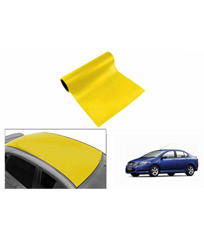 Speedwav Car Roof Glossy Wrap Sheet Neon Yellow-Honda City Type 4 (2009-2014)
