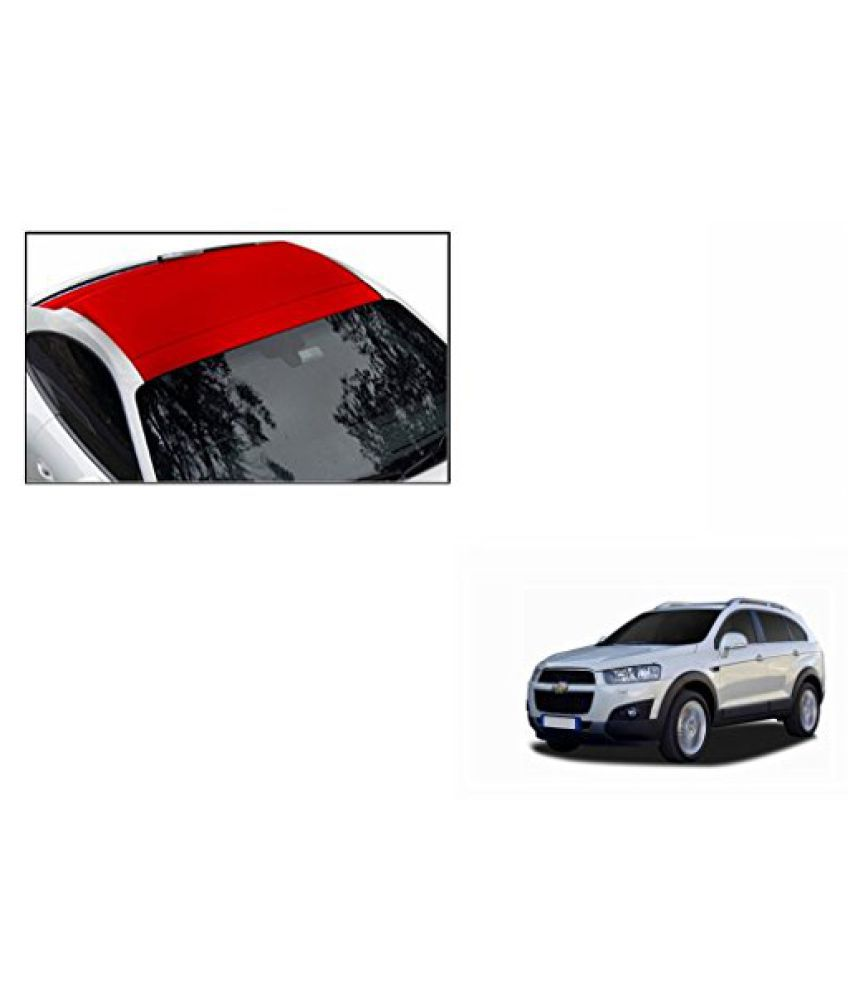 Speedwav Car Roof Wrap Sheet Matt Red-Chevrolet Captiva Type 2 (2013-2015)