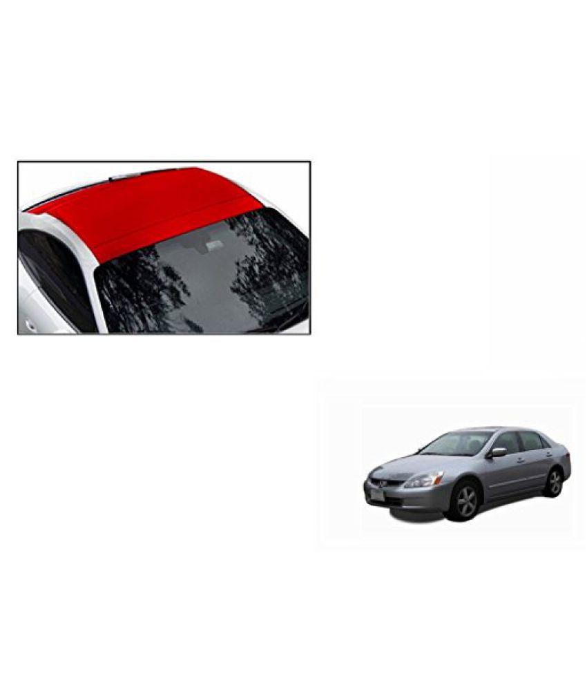 Speedwav Car Roof Wrap Sheet Matt Red-Honda Accord 2.4 Type 2 (2007-2009)