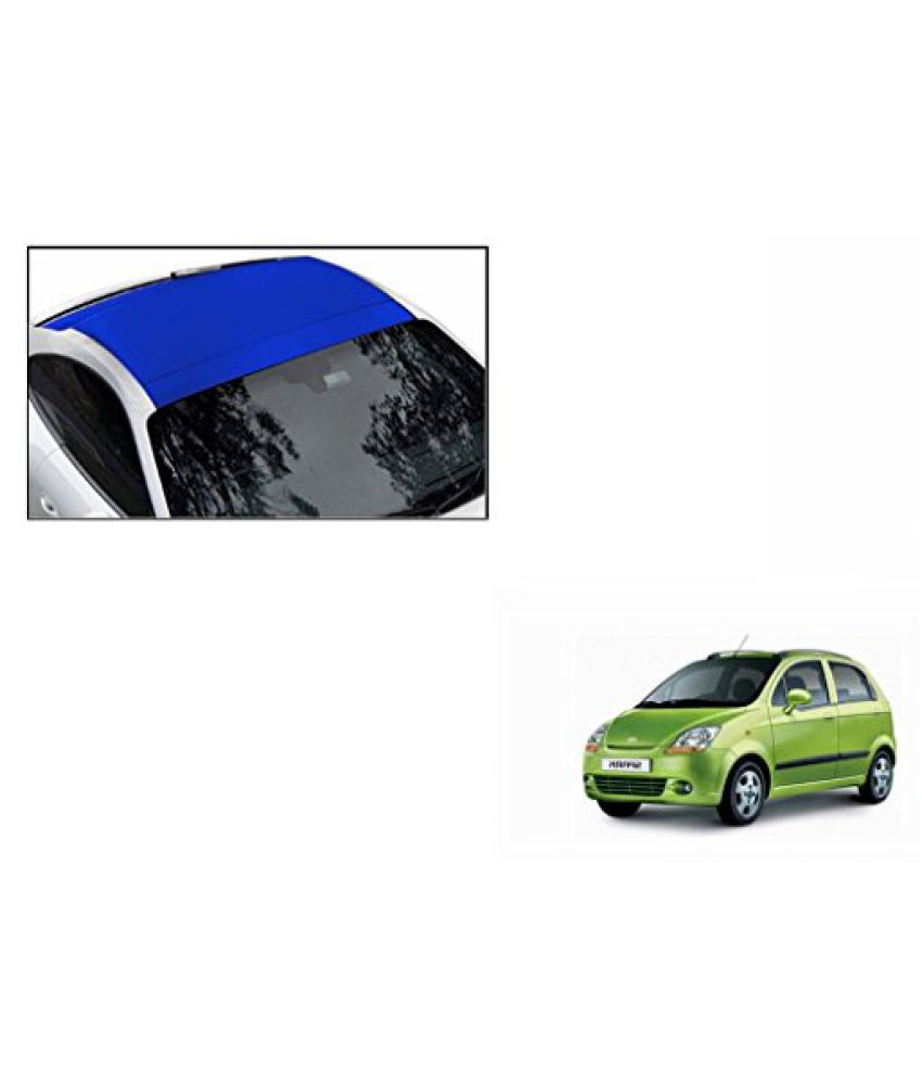 Speedwav Car Roof Wrap Sheet Matt Blue-Chevrolet Spark Type 1 (2008-2013)
