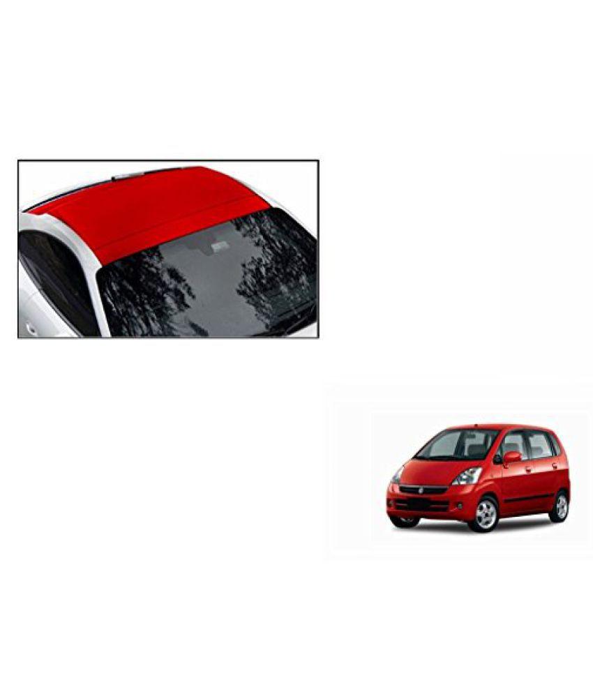 Speedwav Car Roof Wrap Sheet Matt Red-Maruti Zen Estilo Type 2 (2013-2015)